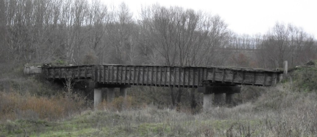 Бывший мост через реку Сарка