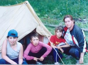 В палаточном лагере